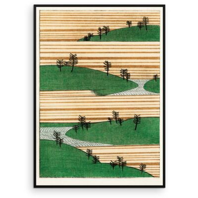Watanabe Seitei Poster – Landscape and trees