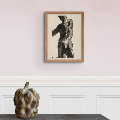 Anatomical study of a mans back – Reijer Stolk Art Print Poster
