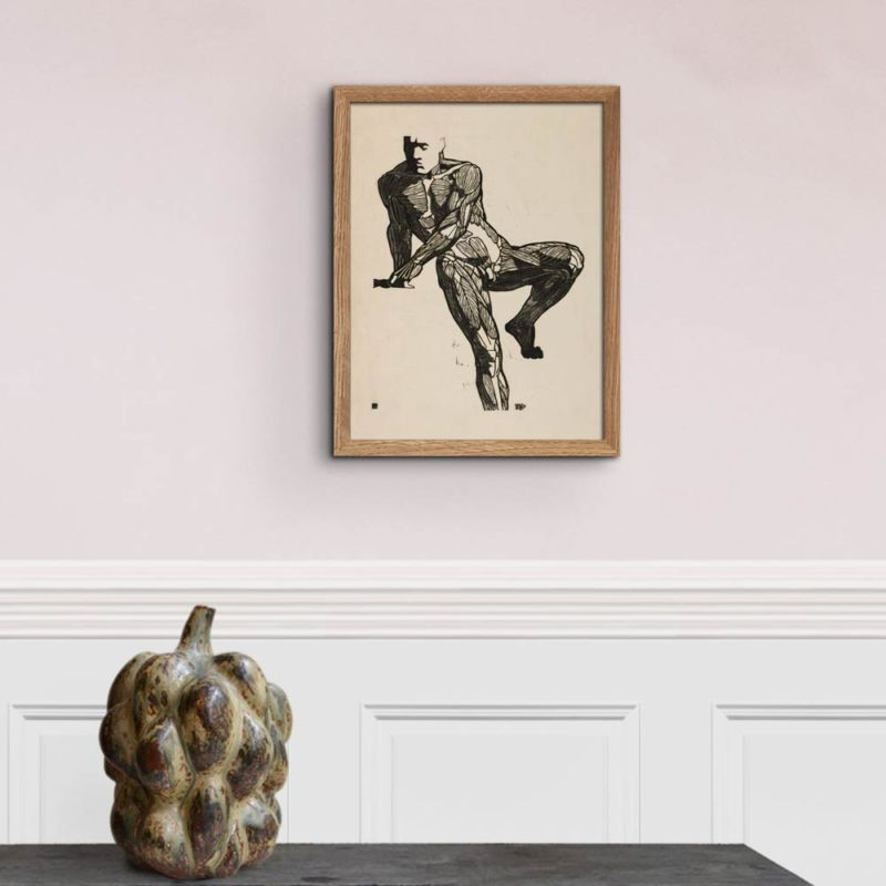 Anatomical study of a mans chest, stomach and leg muscles - Reijer Stolk Art Print 30x40