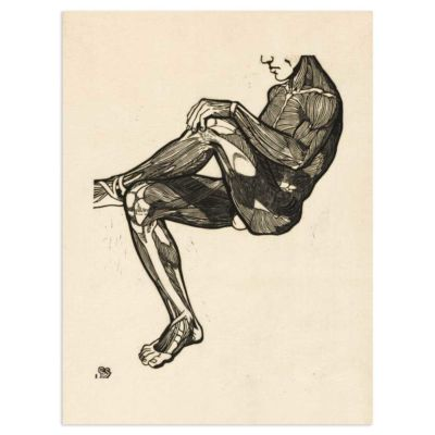 Anatomical study of a mans leg and arm muscles – Reijer Stolk Art Print Poster