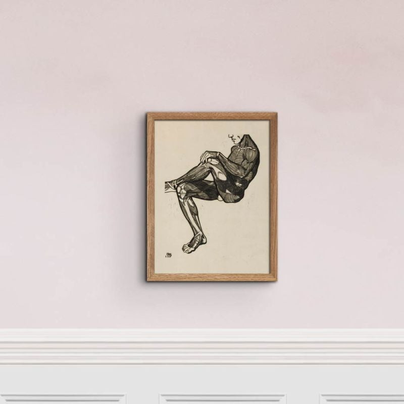Anatomical study of a mans leg and arm muscles - Reijer Stolk Art Print 30x40