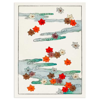 Autumn leaves and water – Watanabe Seitei (Watanabe Shōtei) Art Print Poster