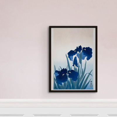 Iris in bloom – Ohara Koson Art Print Poster