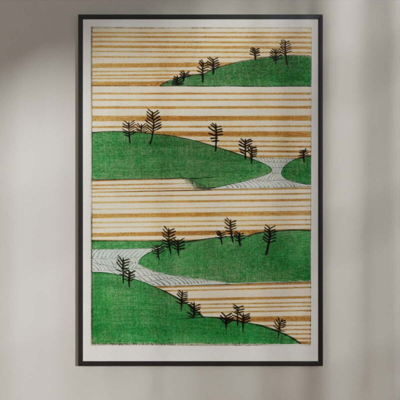 Landscape with trees - Watanabe Seitei Poster