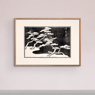 Fishing on the lake – Japanese Woodblock Print Poster