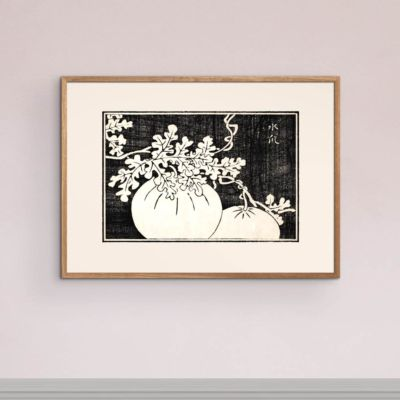 Gourd and vine – Japanese woodblock print Poster