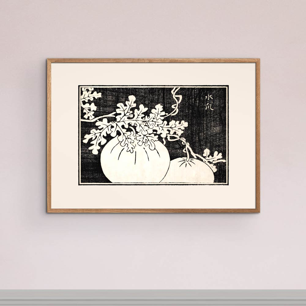 Gourd and vine - Japanese woodblock print Poster
