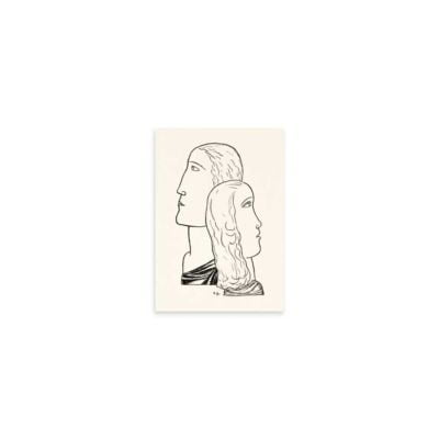 Man and woman in profile – Leo Gestel Line Drawing Art Print