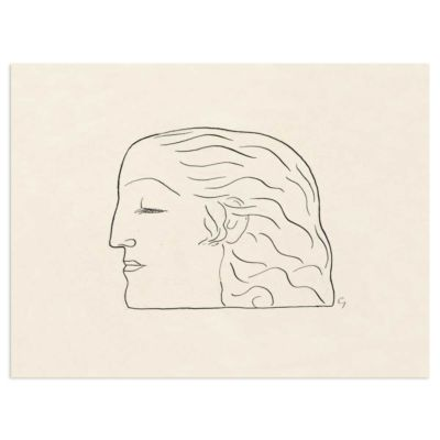 Woman's Head – Leo Gestel Line Drawing Art Print