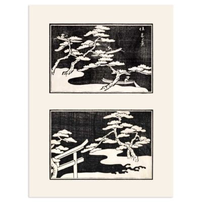 Fishing on the lake – Japanese Art print Poster
