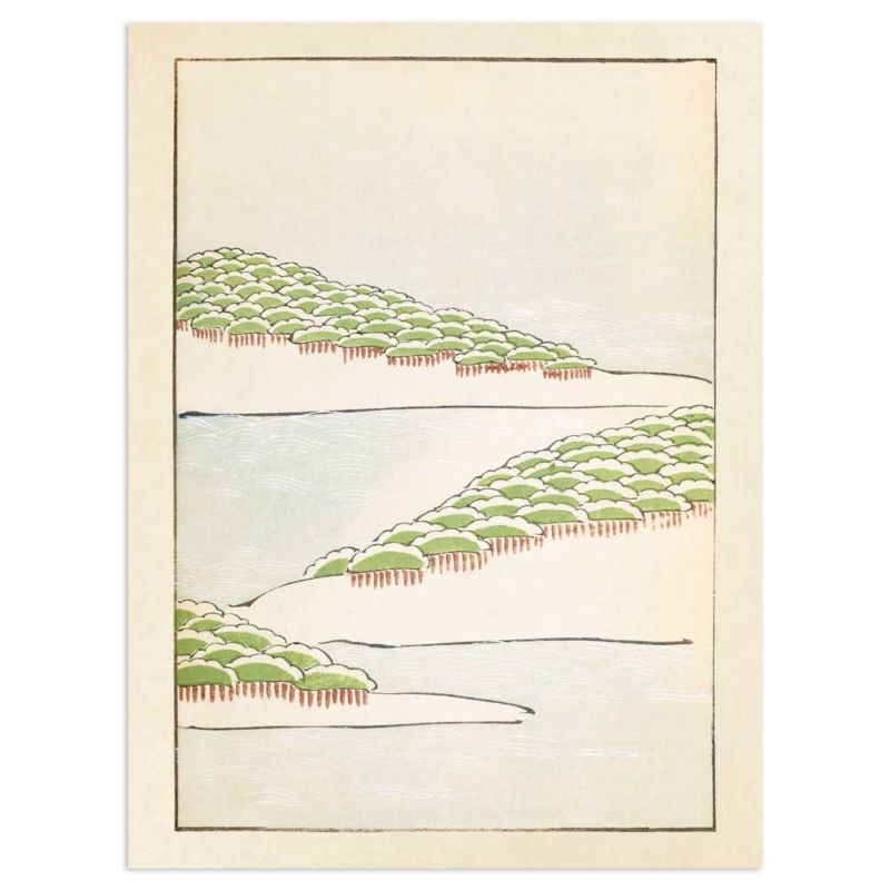 Forest Seascape - Japanese woodblock print 30x40cm