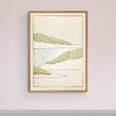 Forest Seascape – Japanese Woodblock Print Poster