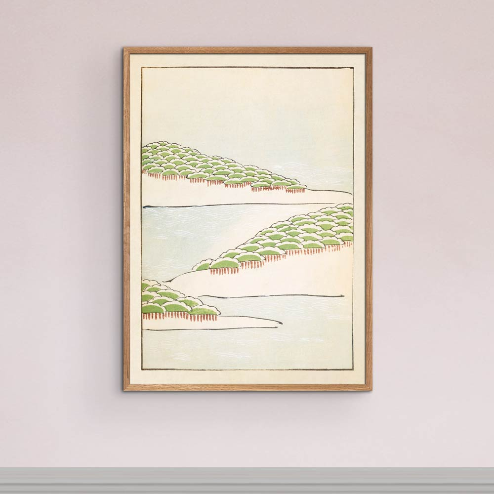 Forest Seascape - Japanese Woodblock Print