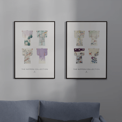 The Nippon Collection Two – Vintage Japanese Kimono Designs Poster
