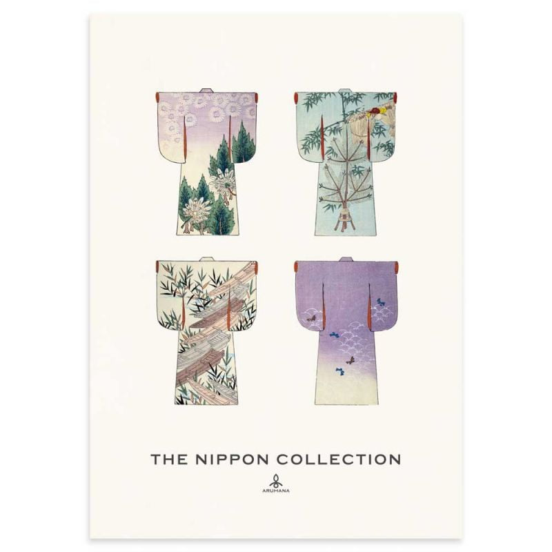 The Nippon Collection - Vintage Japanese Kimono Designs Poster - 50x70cm - Aruhana