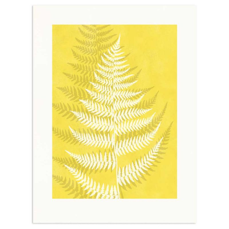 Lady Fern Pantone Color of the year Yellow Monocolor poster 30x40cm
