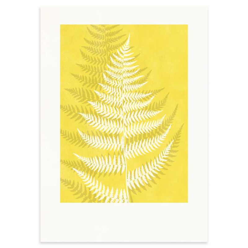 Lady Fern Pantone Color of the year Yellow Monocolor poster 50x70cm