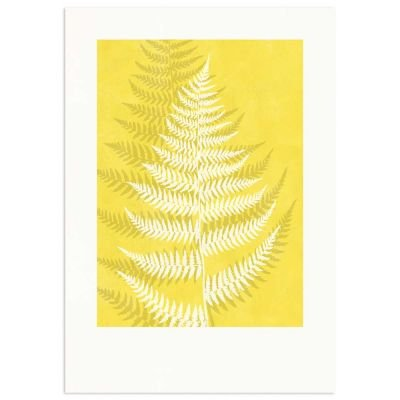 Lady Fern Yellow Monocolor Poster