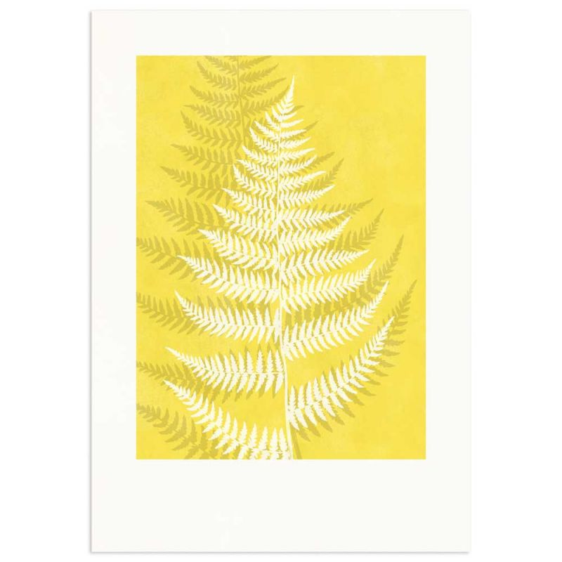 Lady Fern Pantone Color of the year Yellow Monocolor poster 70x100cm