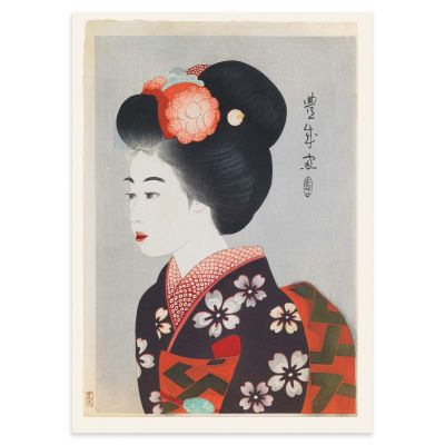 Maiko – The Geisha Apprentice – Taisho Era Woodblock Print Poster