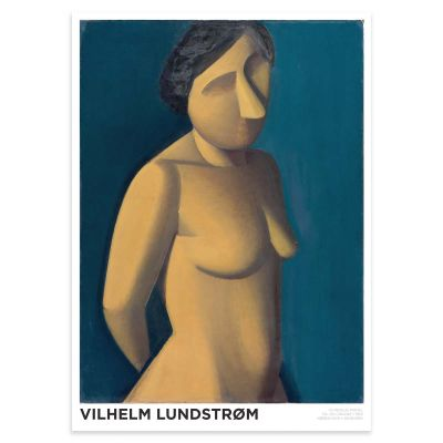 Female model – Classic Danish Cubism Art poster by Vilhelm Lundstrøm