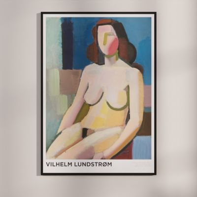 Seated female model – Classic Danish Art poster by Vilhelm Lundstrøm