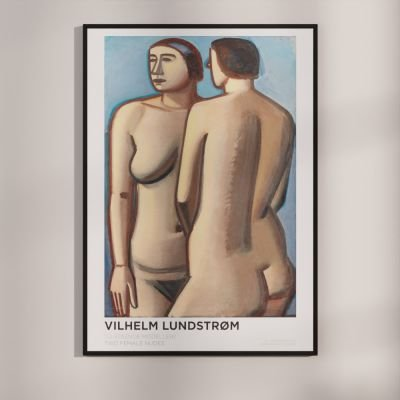 Two female nudes – Vilhelm Lundstrøm Danish Art Poster