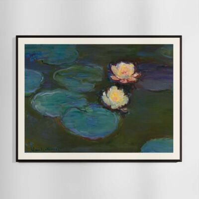 Nympheas Poster – Water Lilies by Claude Monet 1897