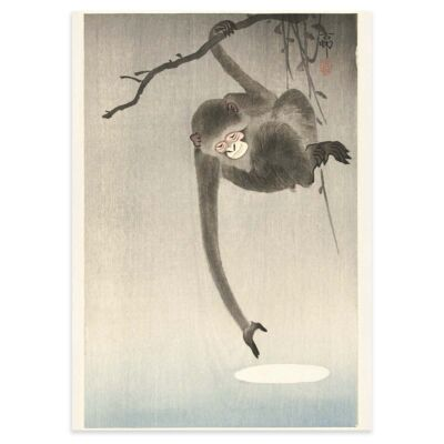 Ohara Koson Poster – The monkey and the moon