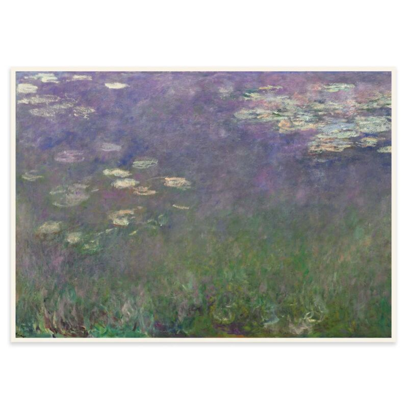 Water Lilies Poster by Claude Monet - 1 - 70x50cm