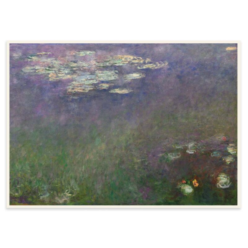 Water Lilies Poster by Claude Monet - 2 - 50x70cm