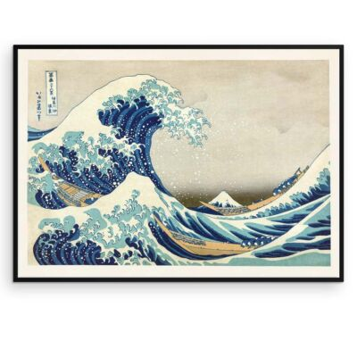 The Great Wave poster – Hokusai Japanese Wave