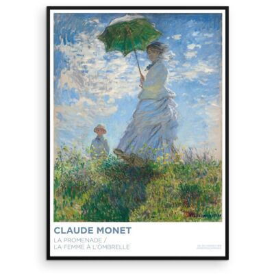 Claude Monet poster – Woman with a Parasol (The Stroll)